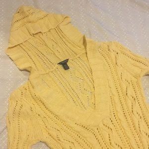 American Eagle Yellow Knit Sweater